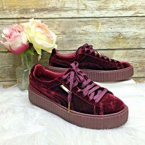 Puma Fenty by Rihanna Burundy Creeper Sneakers